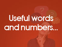 Useful words and numbers
